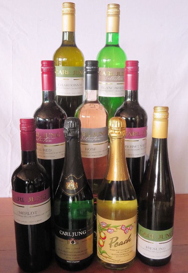 TRY  ALL 9   Red,  White, Rose', Riesling, Chardonnay, Merlot, Cabernet, Spark White & Spark Peach