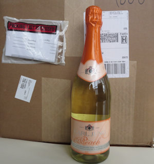 1 Case of 12 Sparkling Peach Non Alcoholic Wine